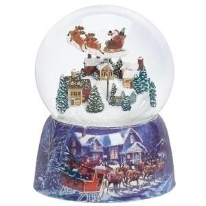 Santa-Over-Village-Snow-Globe