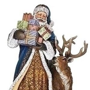 Blue-Santa-Presents-Deer-close-up