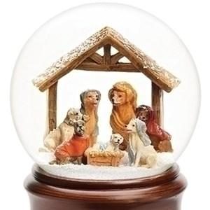 Dog-Nativity-Snow-Globe-close