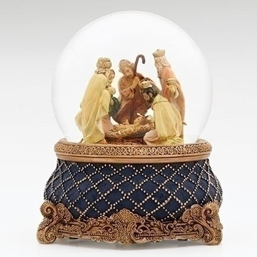 Nativity-Globe-Blue-Gold