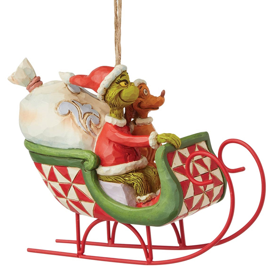 Grinch-Sleigh-Ornament-right-view
