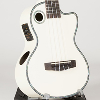 Riptide Ukuele, Tenor White Cutaway Acoustic-Electric ECUT-5-WH