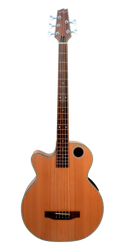 Boulder Creek Guitar, Acoustic Bass Cedar Top Lefty EBR3-N5LH
