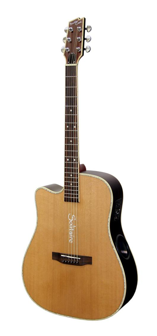 Boulder Creek Guitar, Solitaire Cutaway Spruce/Rosewood ECR4NS-L Lefty