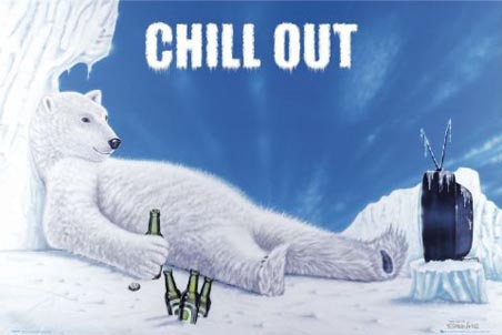 lggn0309+chill-out-relaxing-polar-bear-poster