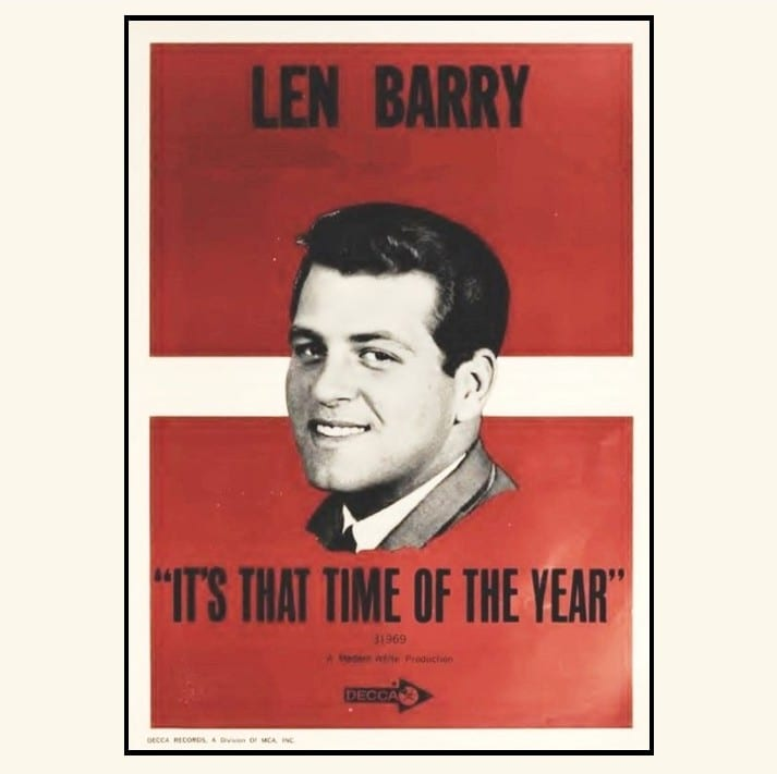 Len Barry - It's That Time Of Year (UNRELEASED ALBUM) (EXPANDED EDITION) (1966) CD 7