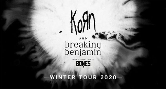 Korn & Breaking Benjamin 2020 North American Tour