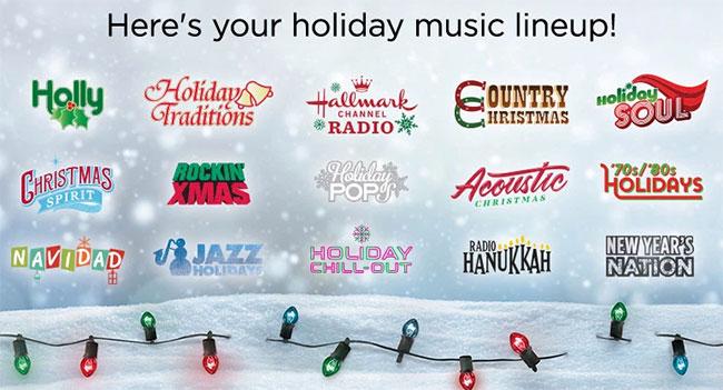 SiriusXM 2019 Holiday Channels