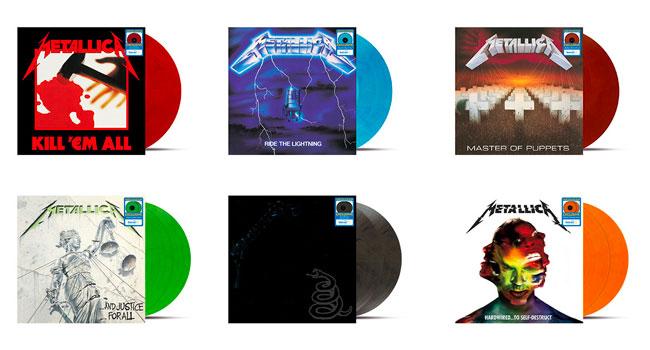Metallica Colored Vinyl