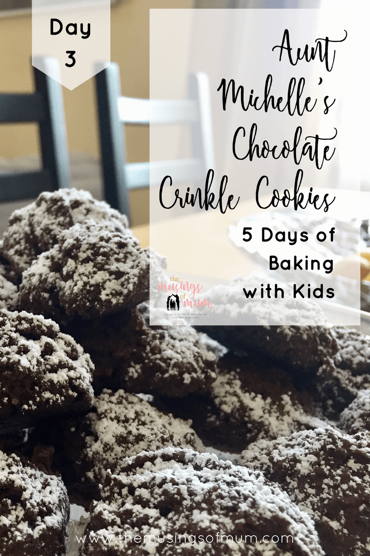 Aunt Michelle's Chocolate Crinkle Cookies