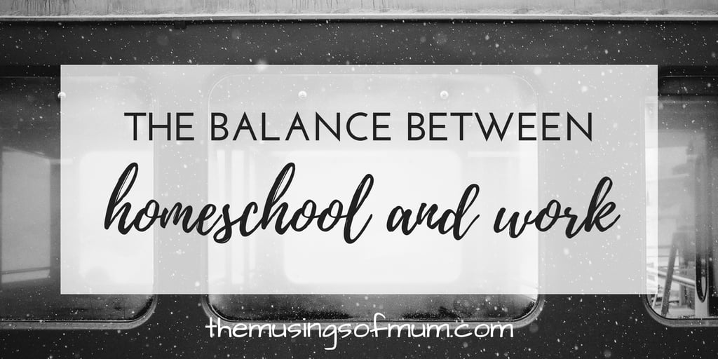 How We Balance Homeschooling and Working At The Same Time