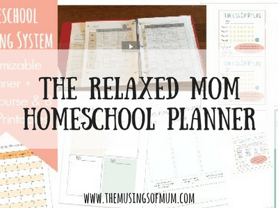 The Relaxed Mom Homeschool Planner