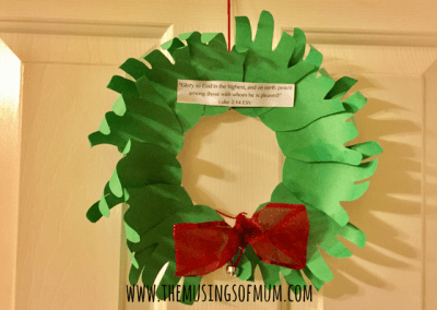 Handprint Wreath - The Musings of Mum