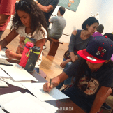 At the sketching gallery.