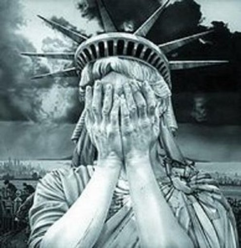 Lady Liberty Weeping