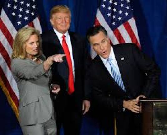 Mitt Romney with Donald Trump