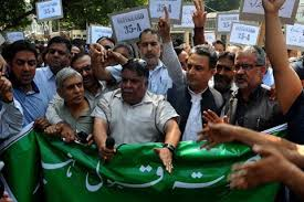 PDP protests in Srinagar against onslaught on Article 35-A