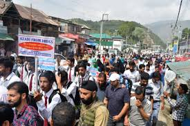 Azadi from Drugs rally organised in Baramulla