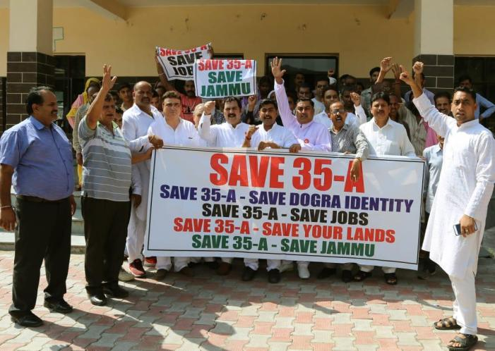 NC SC Cell stages protests in favour of Article 35A