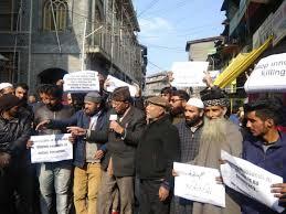 JRL holds protest demonstration in Srinagar