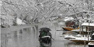 Srinagar sees year's first snowfall