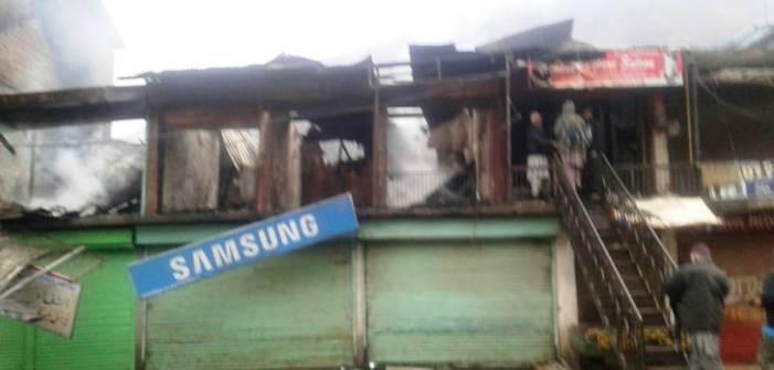 Five shops damaged in Uri fire