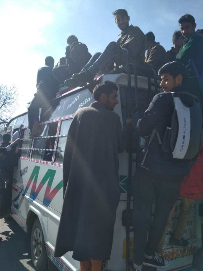Passenger transport not available for people on Aharbal-Kulgam route