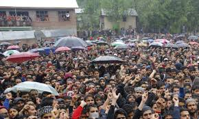 Thousands attend funeral prayers of top militant commander Zakir Musa in Noorpora Tral