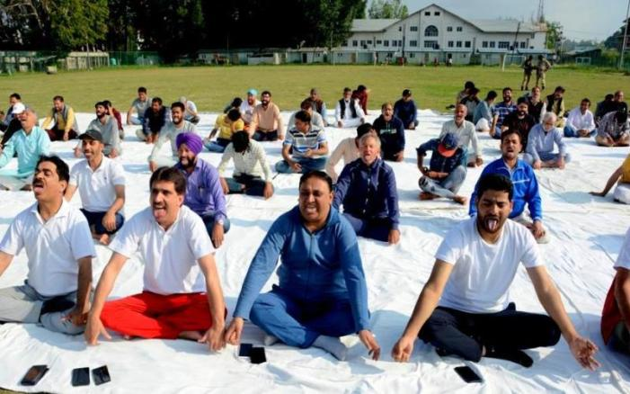 BJP's Kashmir unit organizes International Yoga Day in Srinagar