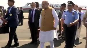 Amit Shah Arrives In Srinagar On 2-Day Visit To J&K