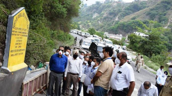 Advisor Baseer Khan tours Reasi: inspects development works being executed by RDD