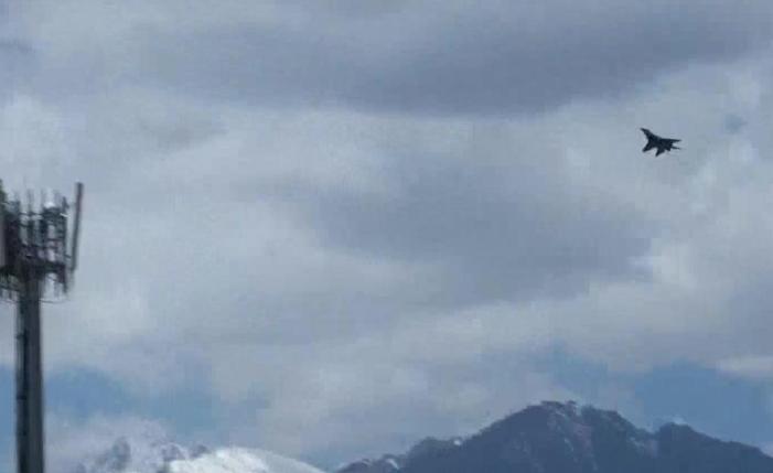 Fighter jet activity seen up in Ladakh skies