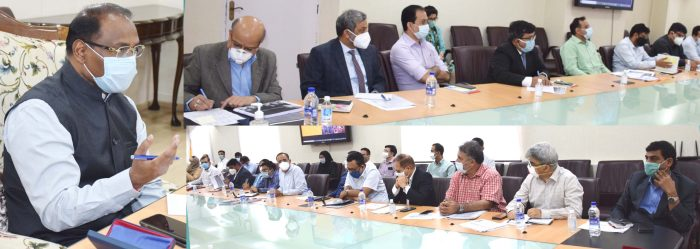 Lt Governor chairs high level meeting of Administrative Secretaries