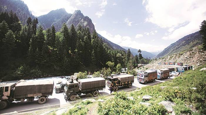 Indian troops moved at two LAC locations on two different days