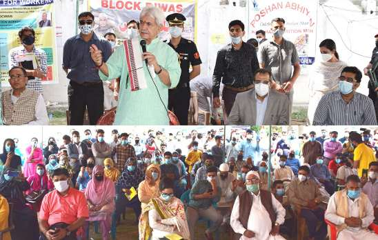 B2V3: Lt Governor visits Khanmoh, takes part in the ongoing 'Awami Muhim'