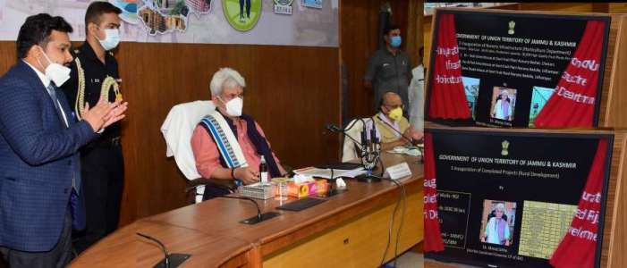 Lt Governor visits Udhampur, reviews developmental activities in the District
