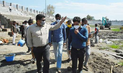 Sarmad inspects development works at Bakshi Stadium