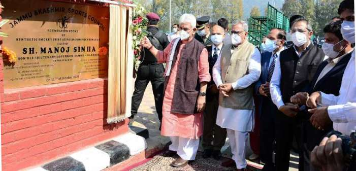 Lt Governor inaugurates sports infrastructure across J&K worth Rs 49.78 Cr, Lays foundation of projects costing Rs 10.5 Cr