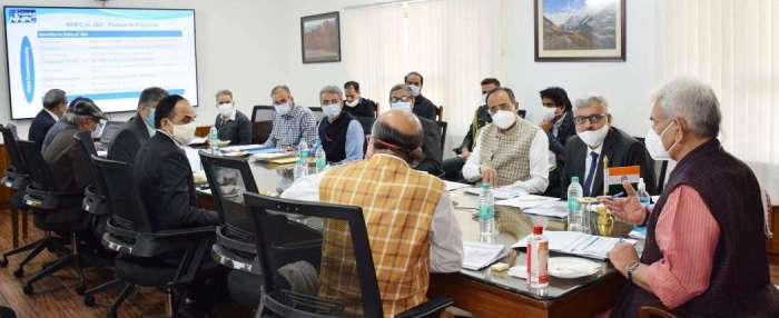 Lt Governor takes a comprehensive review of the various NHPC projects in J&K