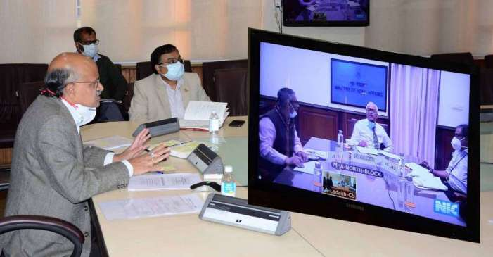 Union Home Secy reviews apportionment of assets and liabilities between J&K, Ladakh