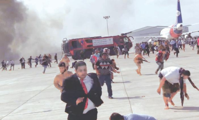 Yemen airport blasts kill 26 as govt plane arrives