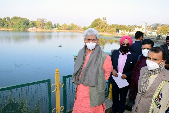 Lt Governor visits Purmandal – Utterbehani and Mansar-Surinsar twin Lakes