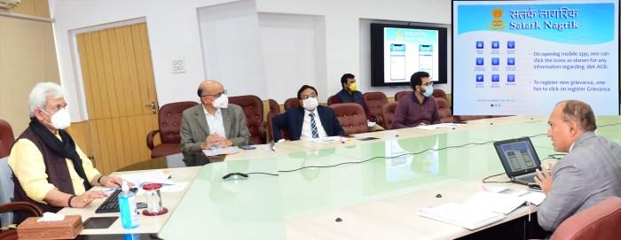 Lt Governor launches Mobile Application 'Satark Nagrik' and Departmental Vigilance Officers Portal of J&K Anti Corruption Bureau