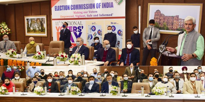 Lt Governor leads National Voters' Day celebrations in J&K