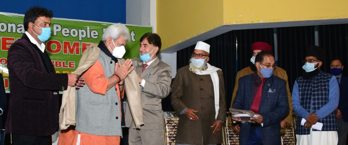 Lt Governor Manoj Sinha inaugurates Prominent Religious Leaders Conference on 'De-radicalization'