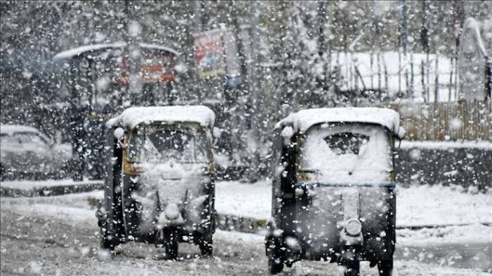 Snow brings respite from shivering cold conditions in Kashmir
