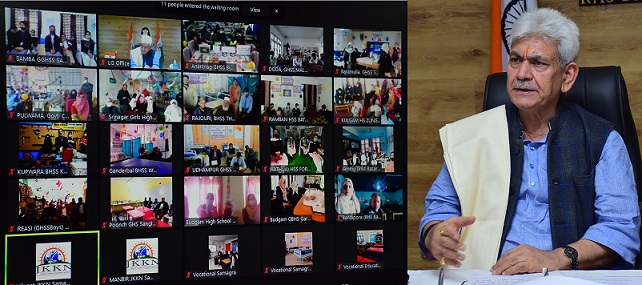 Lt Governor e-inaugurates 607 Vocational Labs, Vocational Education Portal and GIS Portal developed by Samagra Shiksha, J&K
