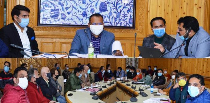 Div Com chairs Covid-19 review meeting