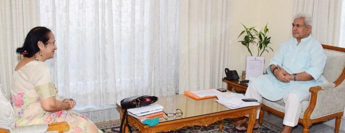 VC SKUAST Jammu, Social Activist call on Lt Governor