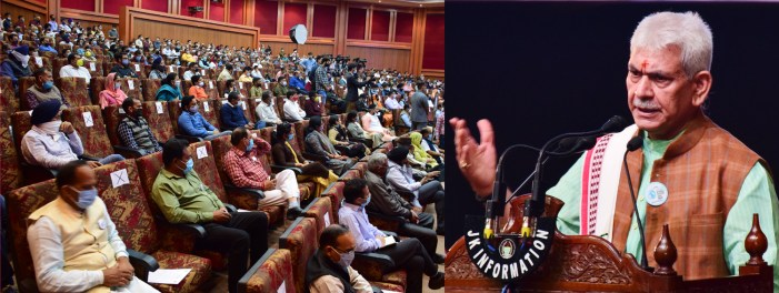 Lt Governor calls for active participation of elected representatives and people of J&K in rainwater harvesting & water conservation activities